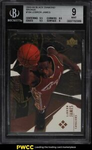 2003 Black Diamond Bronze LeBron James ROOKIE RC MIAMI JSY 6/100 #184 BGS 9