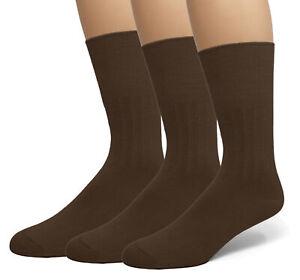 Classic  Women's Diabetic Non-Binding Comfort Top Dress Crew Socks 3-Pack