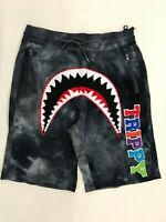 Hudson Outerwear Trippy Tie Dye Sharkmouth Short Black Nice New Rare H3052595