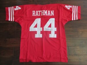 SIGNED Tom Rathman Jersey - San Francisco 49ers - PSA