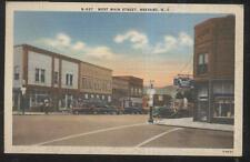 POSTCARD BREVARD NC/NORTH CAROLINA WEST MAIN STREET BUSINESS STORE FRONT 1940'S