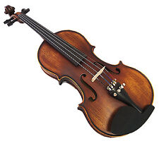 New Antique Style 3/4 Hand-Made Violin +Bow +Rosin +Square Case <Limited>