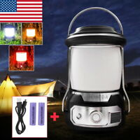 Outdoor Portable Handheld LED Rechargeable Camping Tent Lantern Emergency Light