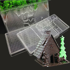 DIY Christmas House Set Candy Polycarbonate Deer Tree Chocolate Mould Jelly Mold