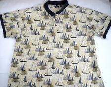 Gant Men's Polo Shirt Size Big 4X 4xBig Sailboats Mariner Rugby Vintage