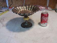 Antique Vintage L.B.N.Y. Silverplate Bakelite Pedestal Candy Serving Bowl Dish