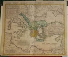 GREECE & EASTERN MEDITERRANEAN SEA 1741 HOMANN HEIRS ANTIQUE COPPER ENGRAVED MAP