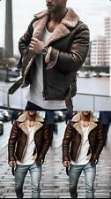 mens sheepskin leather flying jacket
