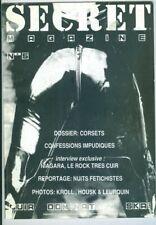 CUIR DOMINATION SKAI Secret Magazine n°5 revue belge 1991