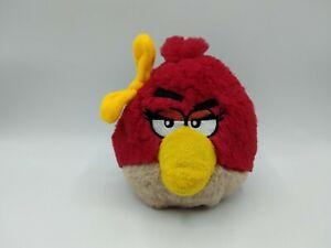 "Angry Birds Red Girl Bird Yellow Bow 5"" Plush Stuffed Toy Animal 2011"