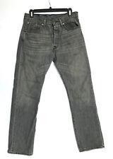LEVIS Men's 501 Button Fly Straight Leg Jeans Grey Wash Sz 31x30 (31x30.5) *EUC*