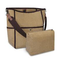 Large Capacity Anti-Water Canvas Women Handbag Casual Travel Work Shoulder Bag