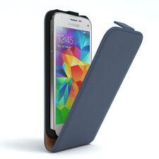 Tasche für Samsung Galaxy S5 Mini Flip Case Schutz hülle Handy Cover DUNKELBLAU