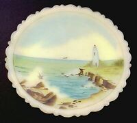 Fenton Glass Designer Series Lighthouse Point Plate #528 Limited to 1000