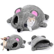 Cat Dog Mouse Cave Bed Shape Cats Dogs Removable Cushion Waterproof Bottom House