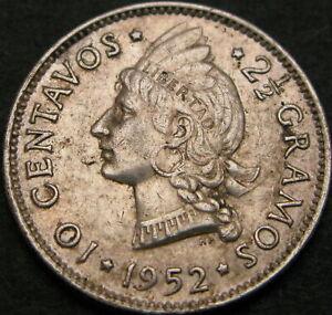 DOMINICAN REPUBLIC 10 Centavos 1952 - Silver - VF+ - 386 ¤