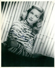 Lauren Bacall (Vintage) signed photo COA