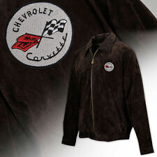 Mens C1 Corvette Regular Length Suede Bomber Jacket - BROWN  604823