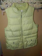 Womens Ann Taylor Loft Green Down Puffer Sleeveless Vest SZ M EUC!