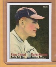 Casey Stengel '28 Toledo Mudhens Player-Manager, Hall Of Famer, NYC cab card