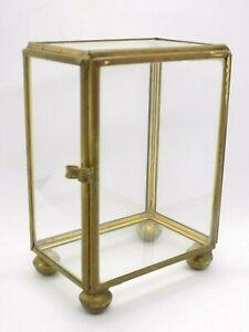 "Vintage Small Glass Display Cabinet. Jewellery/Taxidermy/Shop Display. 4""x3""x2"""