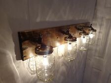 Handmade Faucet / 4 Mason Jar Vanity Light Fixture, Country, Rustic, Primitive