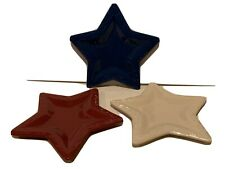 Longaberger Pottery Star Plates.- New - Never Used - Great Wedding Gift.