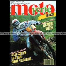 MOTO VERTE N°159 MBK 50 FXC MALAGUTI MDX DUNE PEUGEOT XPLC HONDA RTL 250 S 1987