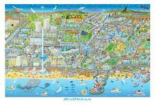 BRIGHTON UK Beautiful contemporary illustrated map, limited edition of 150