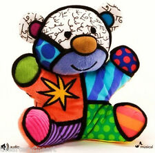 ROMERO BRITTO 'Festive Musical Bear' Soft Mini Plush Stuffed Animal Toy **NWT**