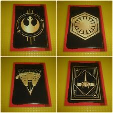 Star Wars Journey to the Last Jedi Full Set of 8 Gold Trading Cards *New*