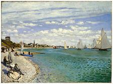 """Impressionism """"Regatta at Sainte-Adresse"""" Claude Monet ca. 1867"""