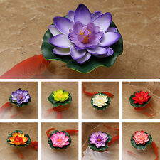 Colorful Fake Lotus Water Lily Floating Flower Garden Home Pool Plant Ornament