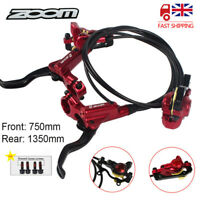 ZOOM MTB Bicycle Hydraulic Disc Brakes Front/Rear Bike Disc Brake Set Caliper UK