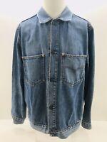 Levi's Denim Jean Jacket men's 70511 04 Size LARGE