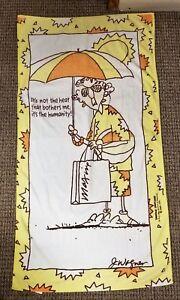 "MAXINE 28"" x 56"" Cotton Bath Beach Towel HILASAL John Wagner Shoebox Greetings"