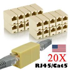 20Pack RJ45 Ethernet Network LAN Cat5e Cable Joiner Adapter Coupler Extender Lot