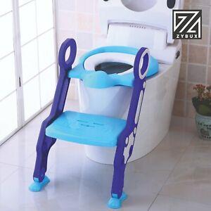 Children's Toilet Seat Ladder Toddler Training Step Up For Kids Easy Fold Down