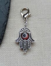 Red Evil Eye Hamsa Hand Fatima Clip on Bracelet Charm Only Gothic/Wicca UK