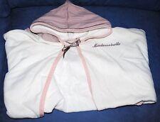 Poncho cape de bain Candide Blanche et rose Taille Unique