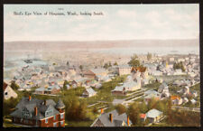 Bird's Eye View of Hoquiam, Wash., Looking South, printed postcard, Made in USA