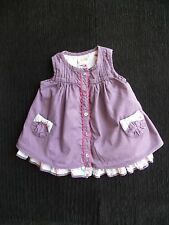 Baby clothes GIRL 3-6m Mamas & Papas 2 layer dress mauve/light blue underskirt