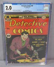 DETECTIVE COMICS #69 (Joker Cover) CGC 2.0 GD DC Comics 1942 Golden Age Batman