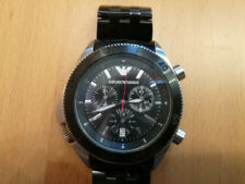 Emporio Armani AR0547 - Herrenarmbanduhr - Chronograph - Steel / Black - Defekt