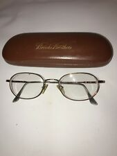 Silver Brooks Brothers Tri Rx Half Rim Eye Glasses Oval Frame BB211 w/ Hard Case