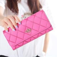 Fashion New Women Lady PU Leather Clutch Wallet Long Card Holder Purse Handbag