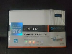 BedGear Dri-Tec Cool&Dry Preformence Sheet Set Flat, Fitted, Pillowcase Twin XL