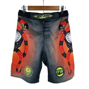 Tatami Fightwear Honey Badger Adult Unisex sz 30 MMA Fight Shorts Muay Thai