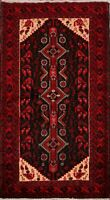 Geometric Balouch Afghan Oriental Area Rug Wool Hand-Knotted Tribal Carpet 4'x6'