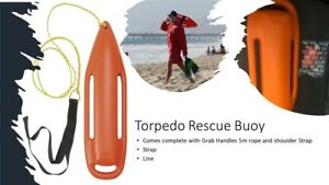 Torpedo Rescue Buoy - Baywatch Rescue Can